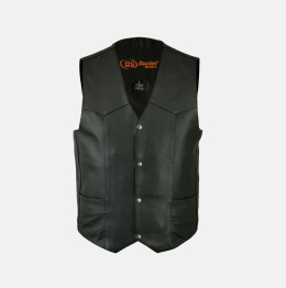 motorcycle leather vest with gun pocket