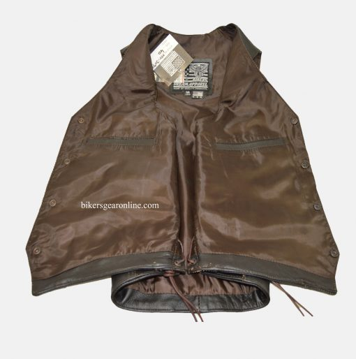 Retro brown motorcycle jacket Vintage Vest