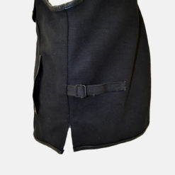 single panel leather vests