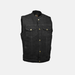 Sons of Anarchy Leather Vest Black Jacket