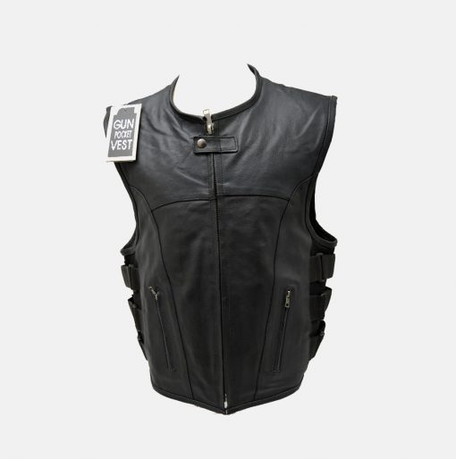 tactical leather motorcycle vest