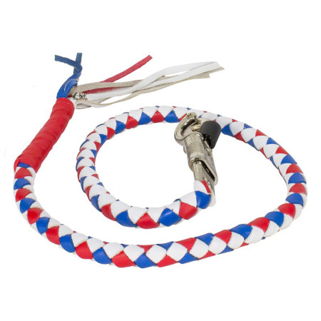 3 Color get back whip white blue red