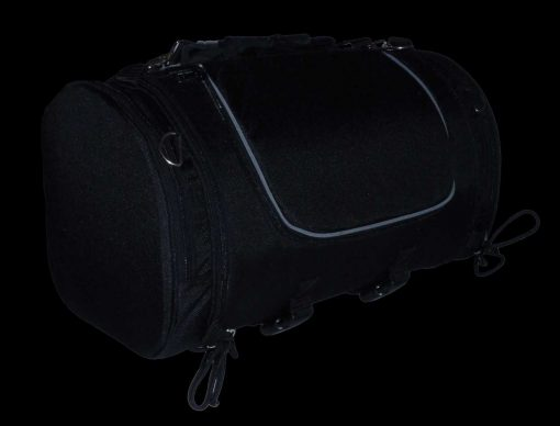 Black Leather bags Travel luggage
