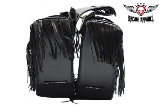 Black motorcycle saddlebags for sale