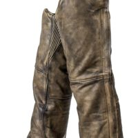 Brown Leather Chaps Distressed