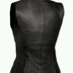 Ladies leather jackets black