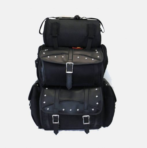 large sissy bar bags motorcycle Studded