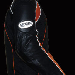 leather motorcycle jacket with armour