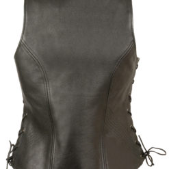 Leather Vest backside womens