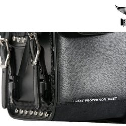locking saddlebags heat protected pure leather