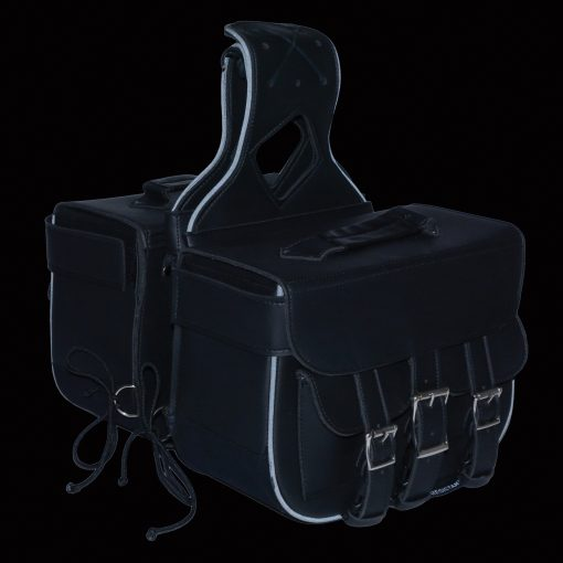 motorcycle bags leather black