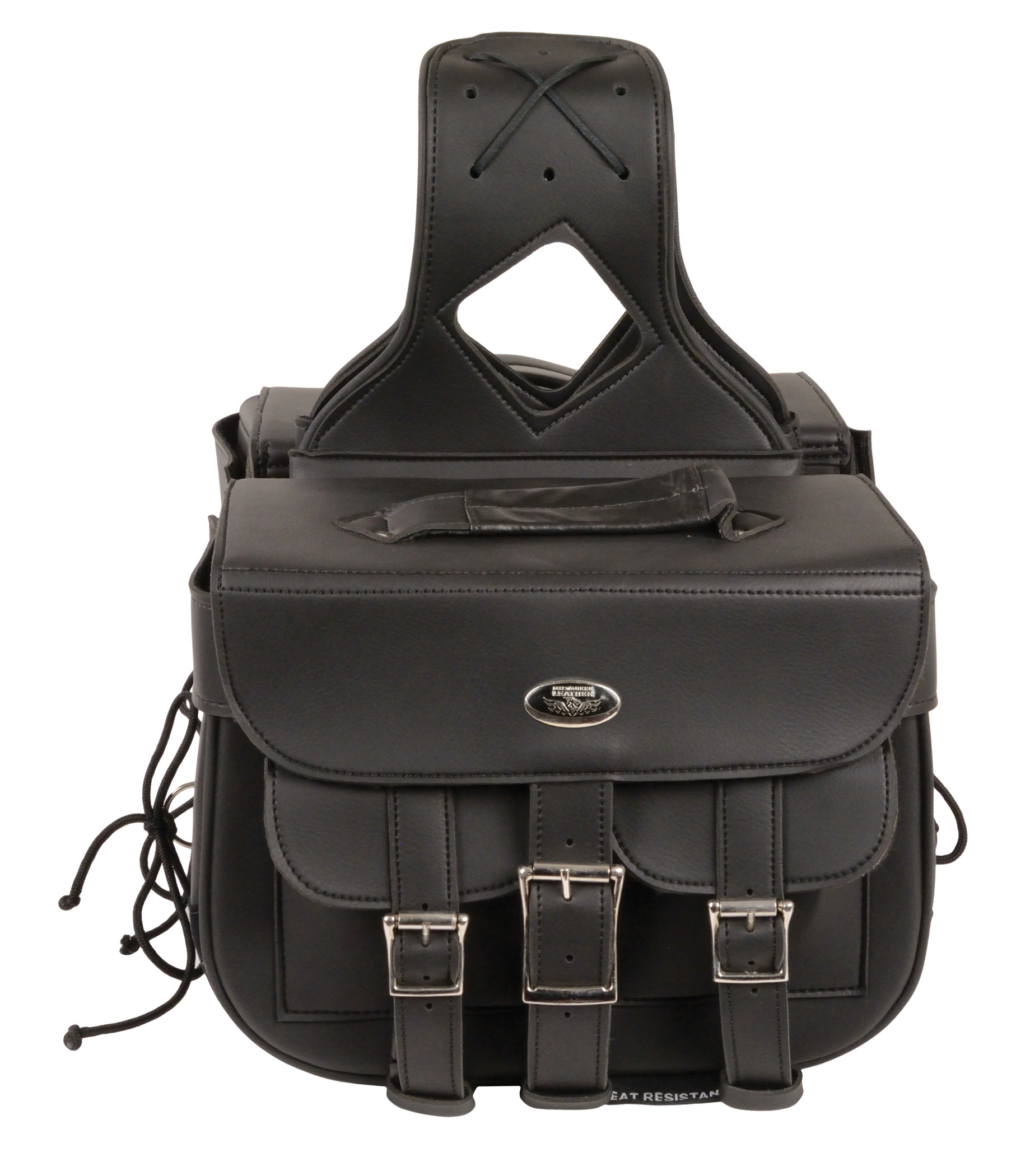 Motorcycle two piece plain saddlebag bikers gear online usa for Motor cycle saddle bags