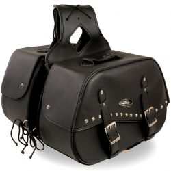 motorcycle hard saddlebags leather
