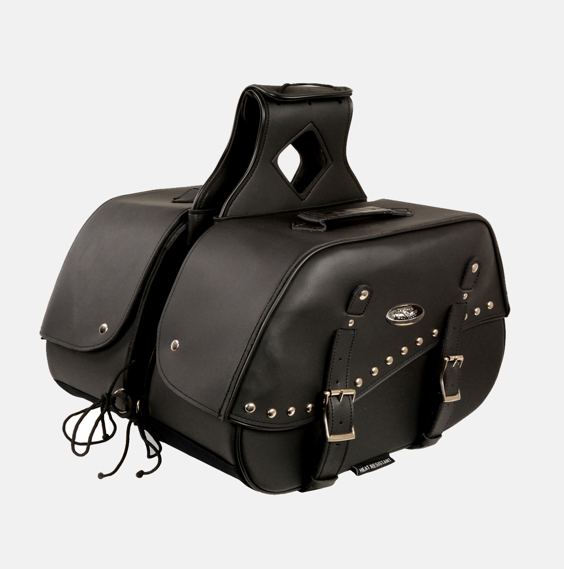 2 strap zip off pvc saddlebag bikers gear online usa