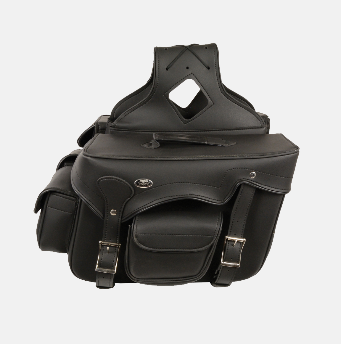 double strap zip of pvc saddlebag bikers gear online usa