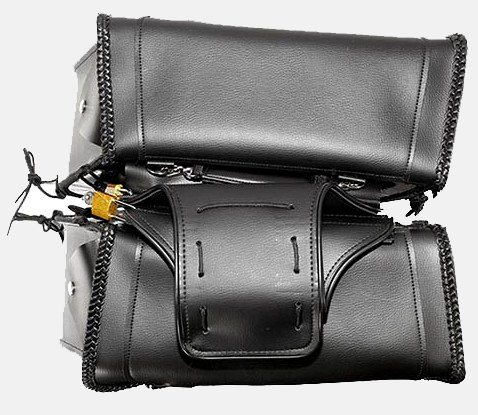 saddlebags motorcycle leather zip off