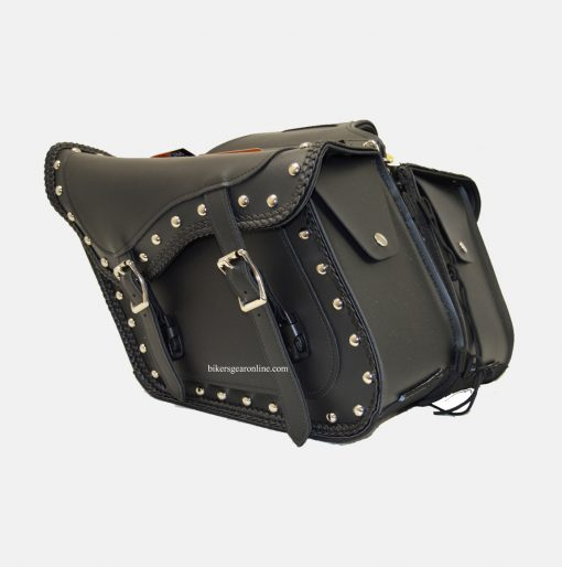 Studded saddlebags for motorcycles