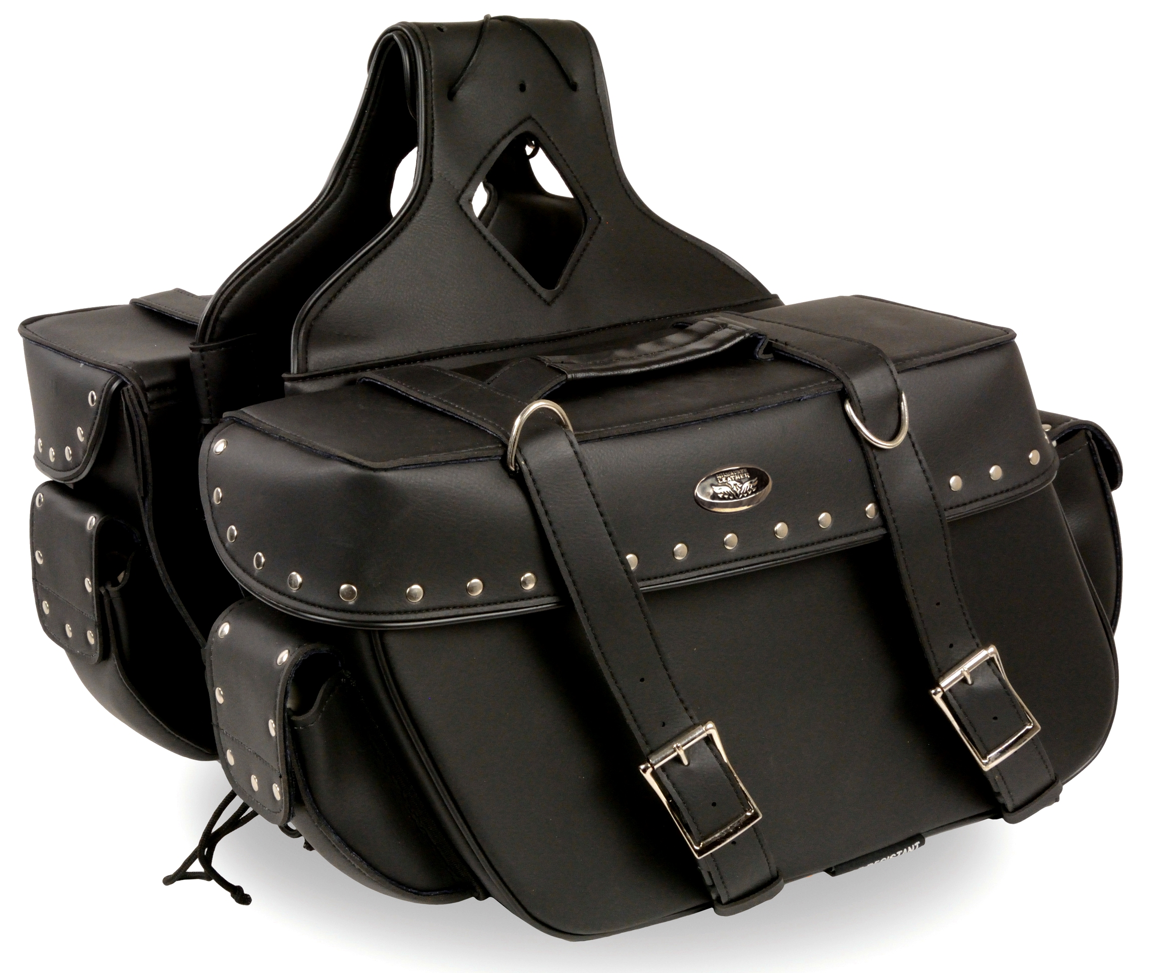 universal motorcycle saddlebags leather Cheap
