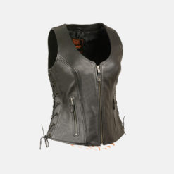Womens Biker Leather Vest