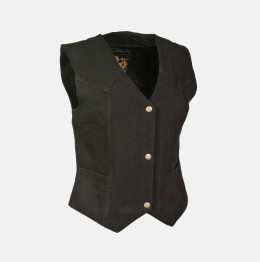 Womens Black Denim Vest