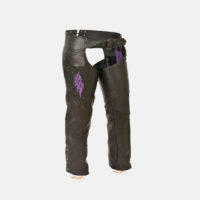 womens black leather pants chaps