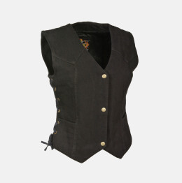 Womens Denim Vest jacket Black