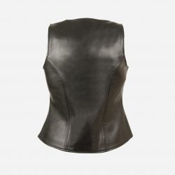 Womens Distressed Leather Jacket back