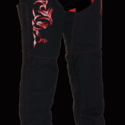 womens leather motorcycle pants red black