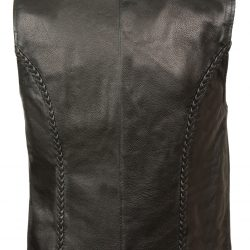women's leather zip front jacket Back