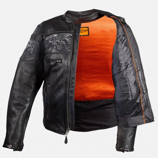 Black leather jackets racer style