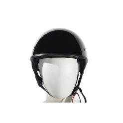 black motorcycle half helmet DOT