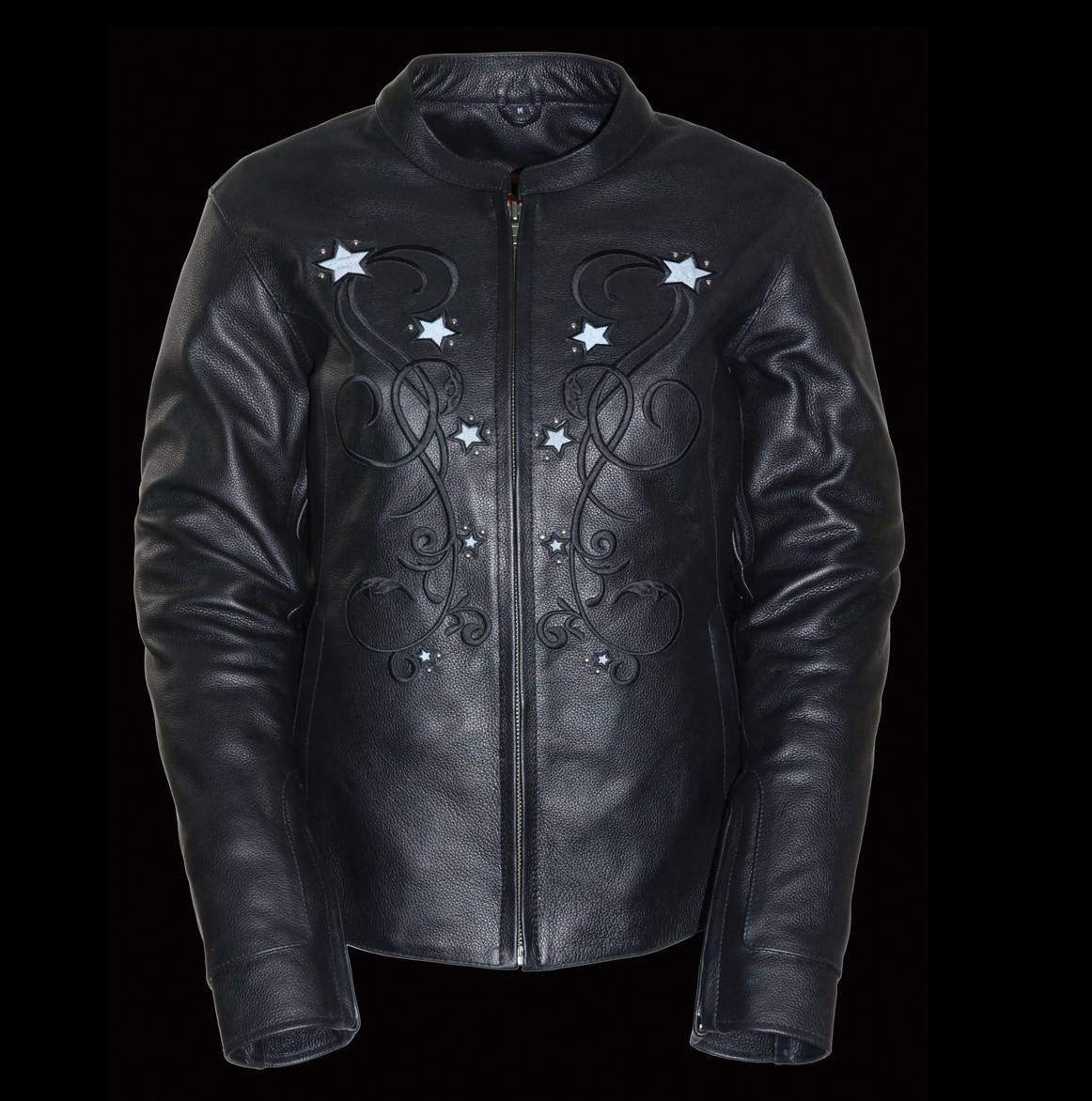 black rivet leather jacket womens
