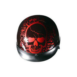 Boneyard Burgundy DOT Approved Helmet
