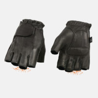 deerskin fingerless gloves USA made