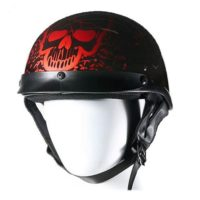dot approved burgundy helmet
