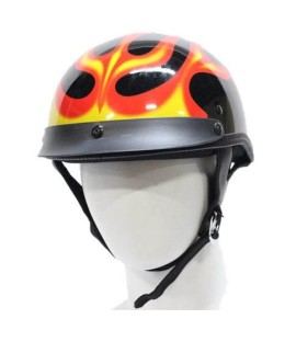 Dot Approved half helmet flames