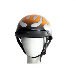 dot approved motorcycle helmet flames