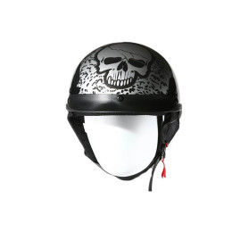 dot approved skull cap helmet Silver