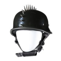 dot german motorcycle helmet with spike