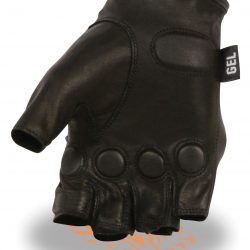 fingerless hard leather gloves