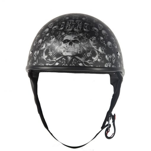 Grey flat dot helmet