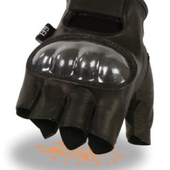 half finger hard knuckle gloves