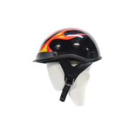 motorcycle helmet with flames