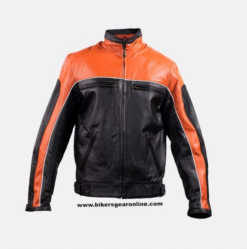 orange racing jacket