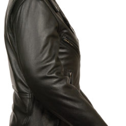 Plain Motorcycle Police Leather jacket
