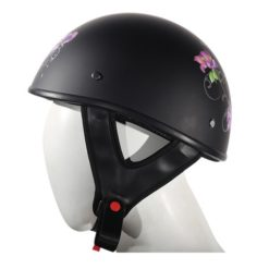 purple rose motorcycle helmet