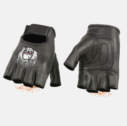 skull gloves motorcycle