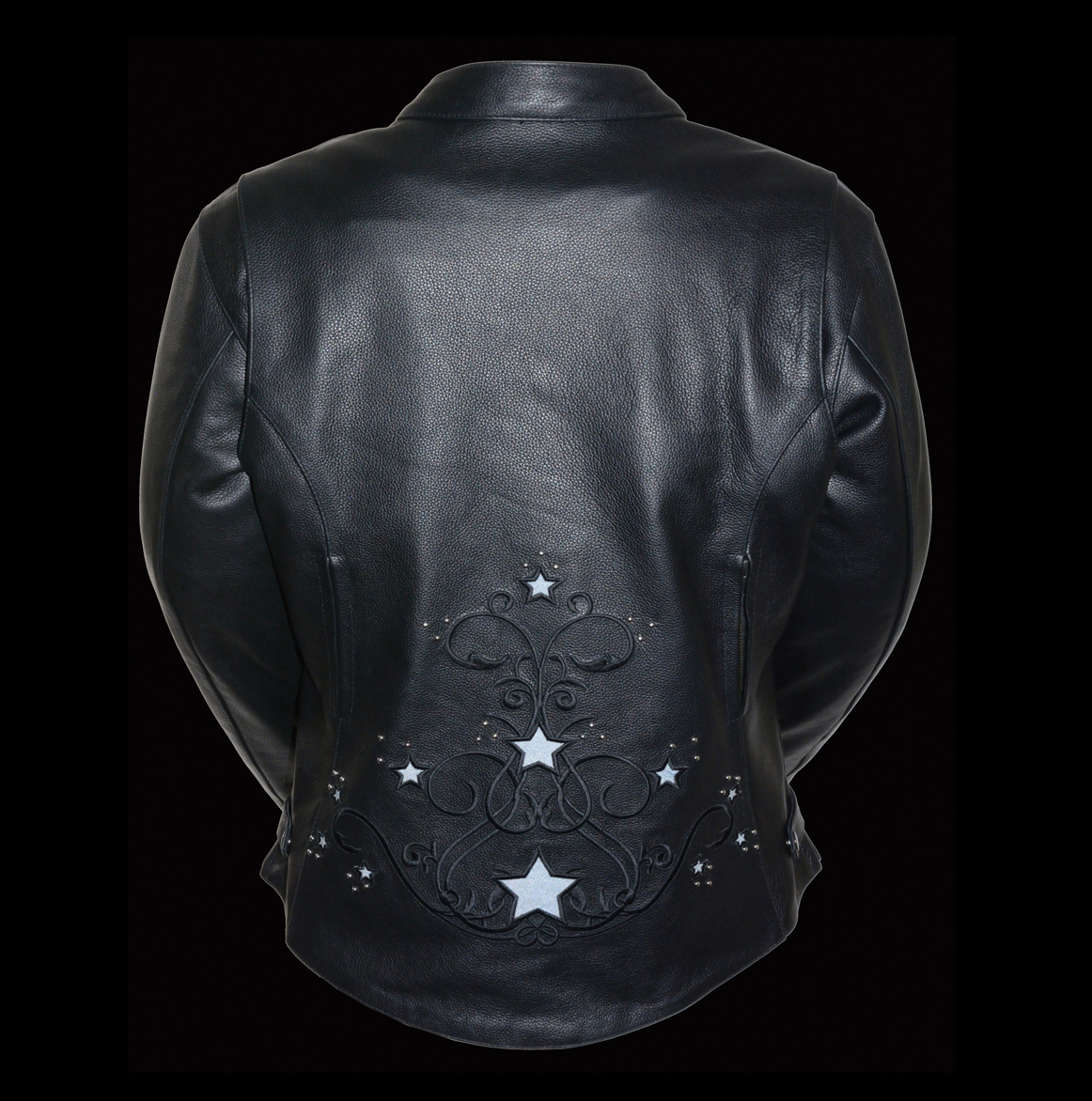 star rivet leather jacket motorcycle womens