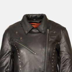 studded leather jacket womens Cheap