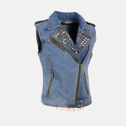 womens denim vest blue jeans